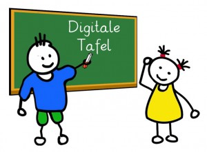 Digitale Tafel.